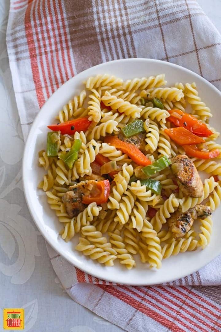 Rasta Pasta Recipe with Jerk Chicken