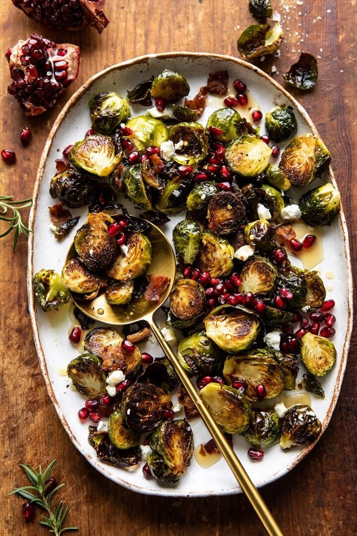 Roasted Bacon Brussels Sprouts with Salted Honey 1