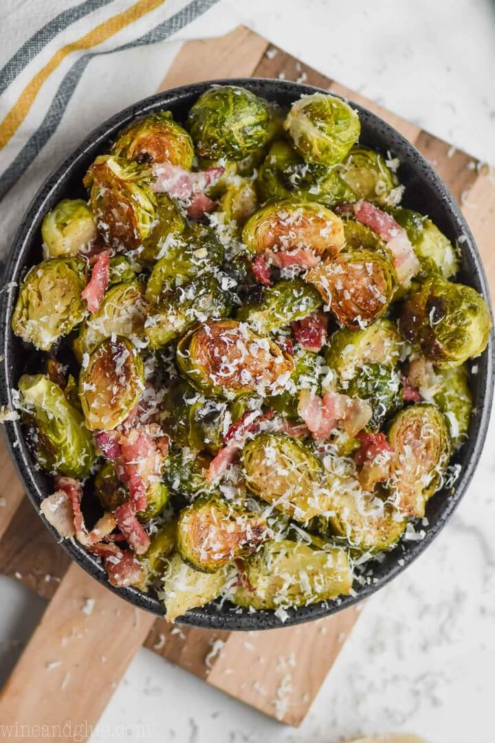 Roasted Brussels Sprouts with Bacon 3
