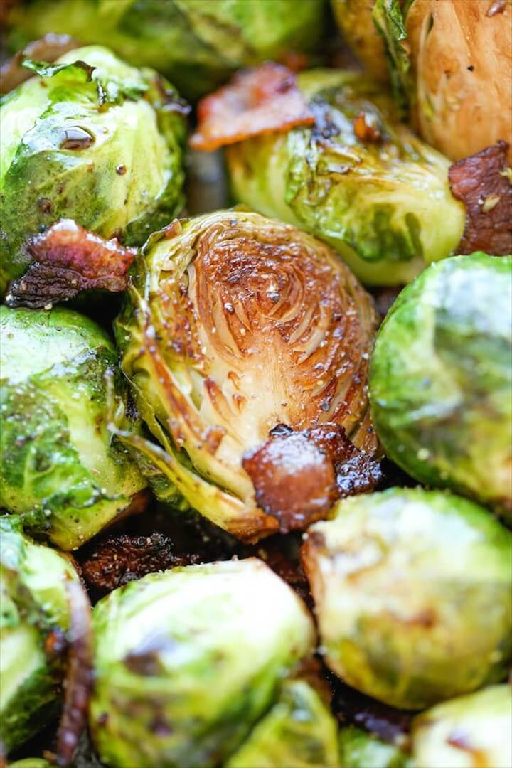 Roasted Garlic Brussels Sprouts 1