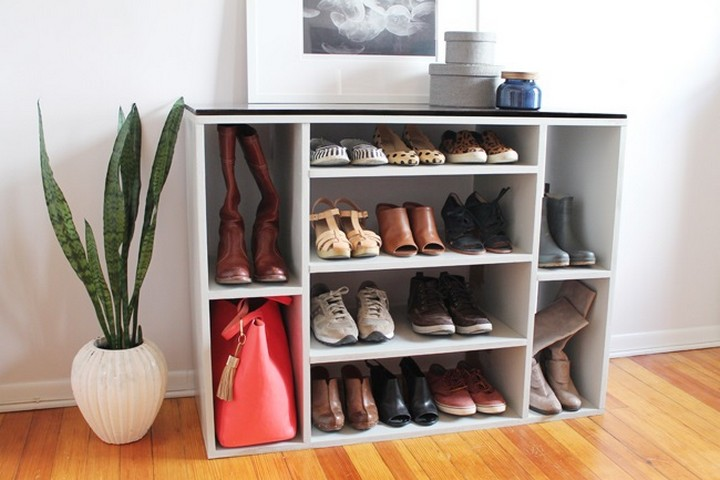 Shoe and Purse Storage of Painted Plywood