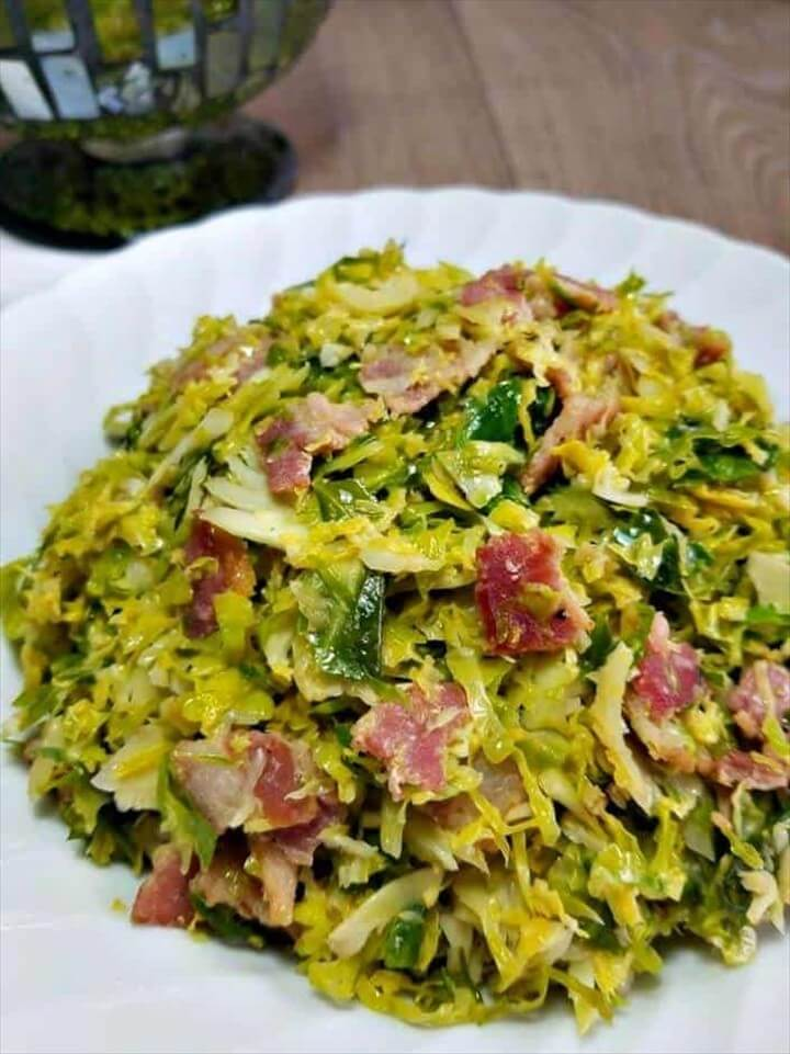 Shredded Brussel Sprouts with Bacon and Balsamic 1
