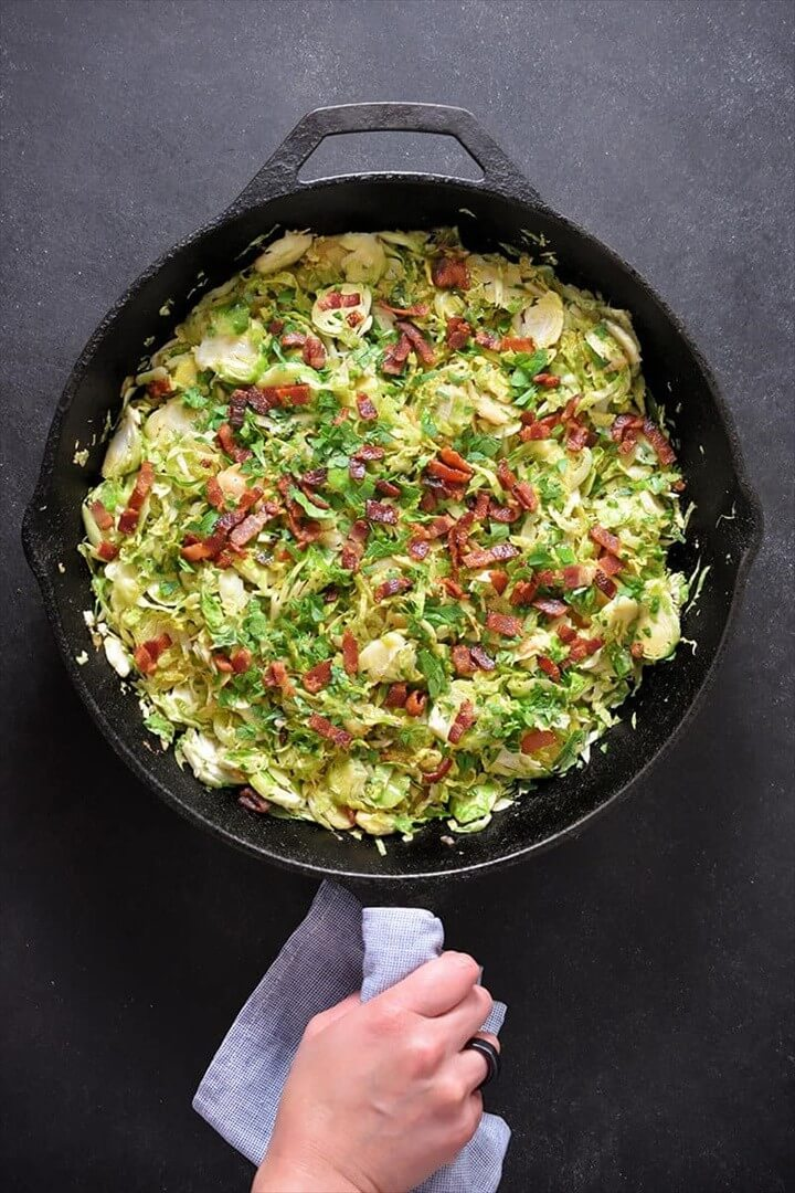 Shredded Brussels Sprouts With Bacon 1