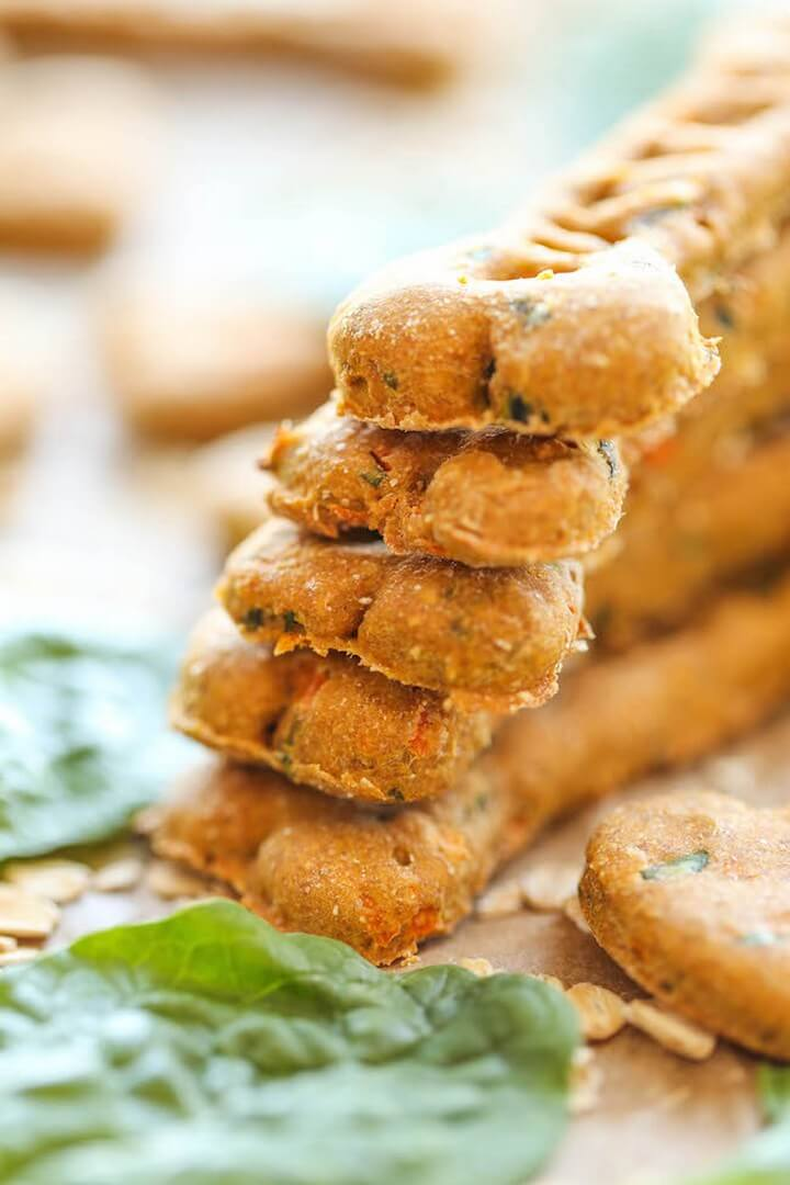 Spinach Carrot and Zucchini Dog Treats