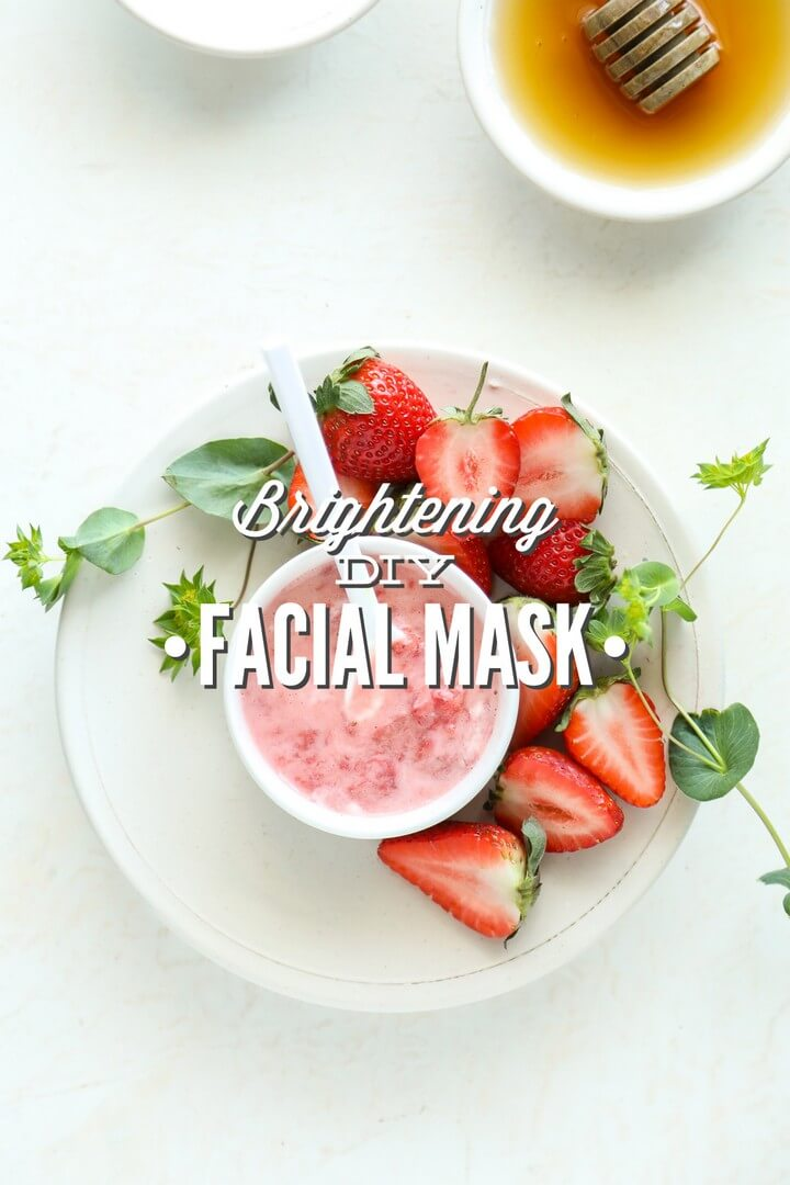 Strawberries and Yogurt Brightening DIY Facial Mask