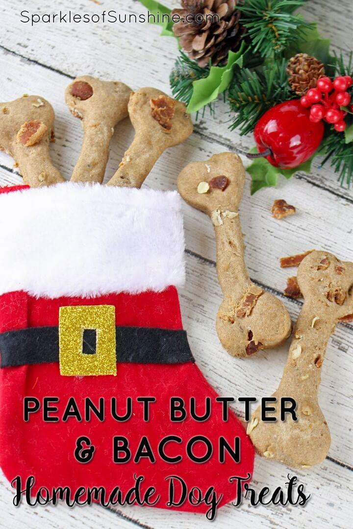 Tasty Peanut Butter Bacon Homemade Dog Treats