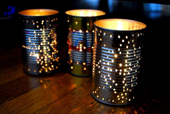 Tin Can Table Lantern DIY