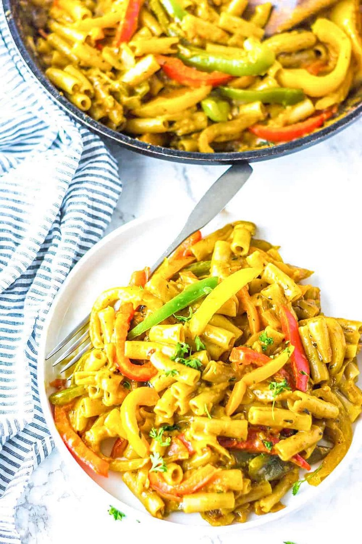 Vegan Rasta Pasta Salad