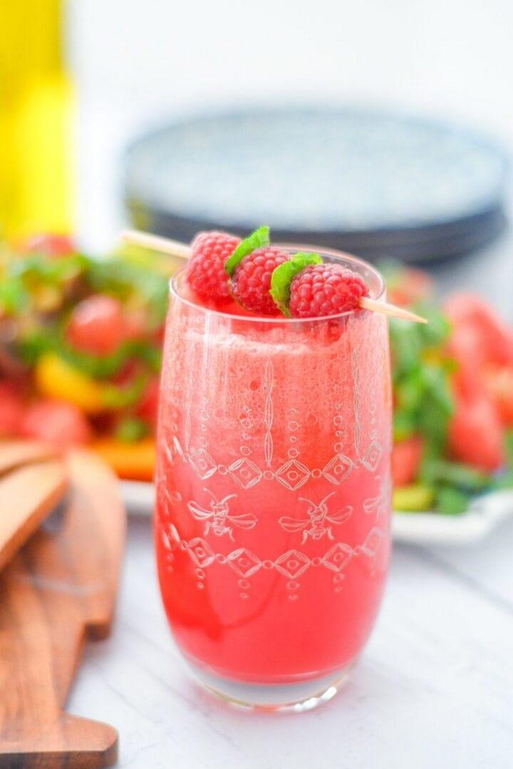Watermelon Drink Recipe Watermelon Raspberry Fizz