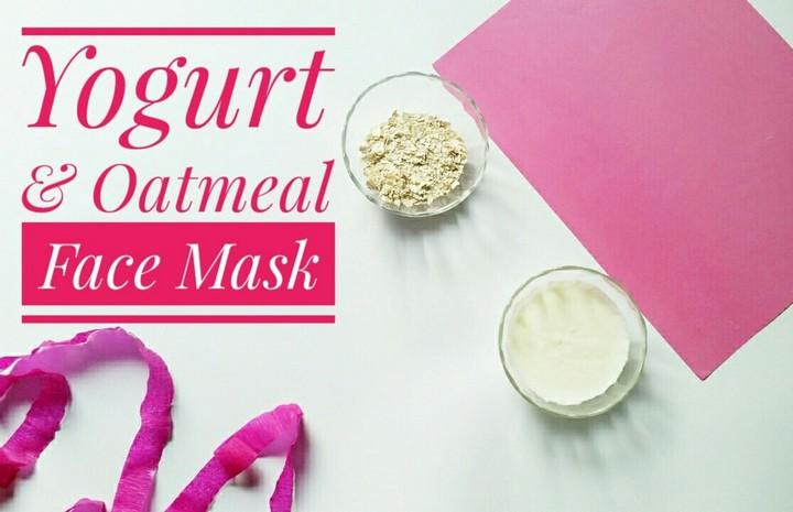 Yogurt Oatmeal Face Mask DIY