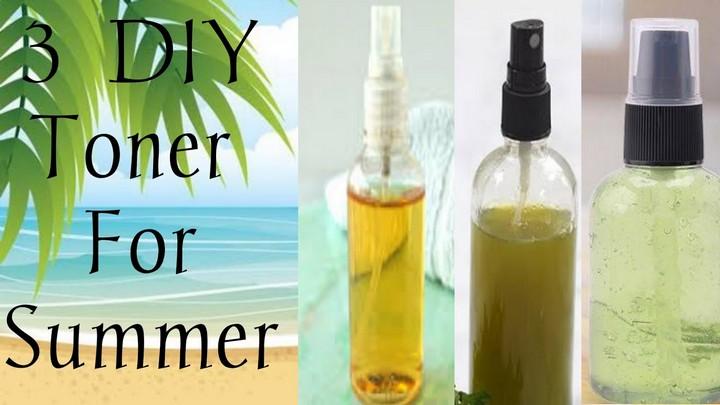 3 DIY Natural Summer Toner For Glowing Refreshed skin