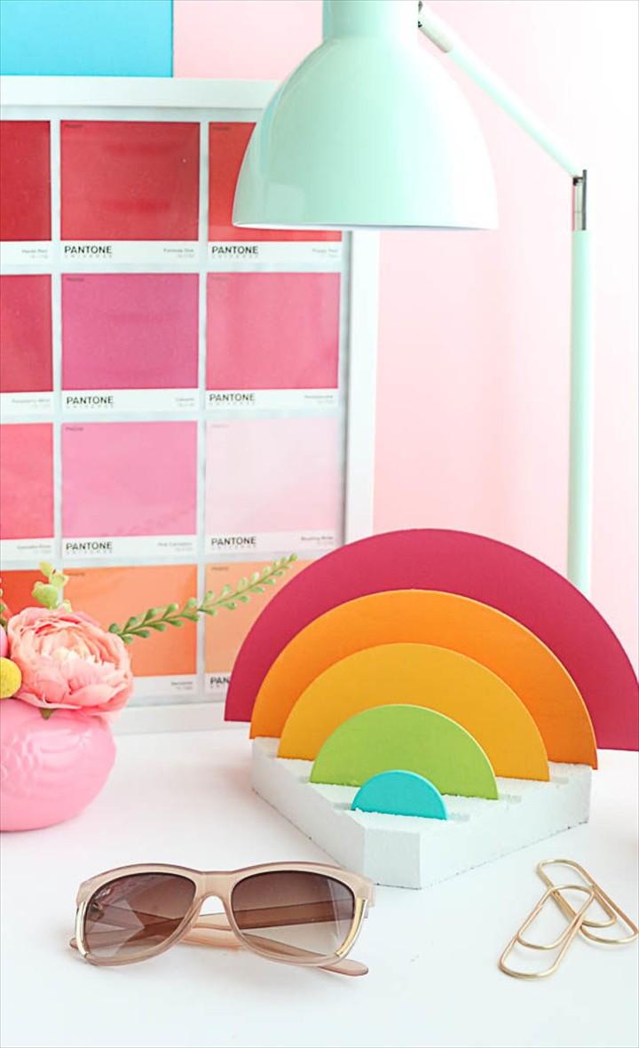 A Rainbow Desk Organizer