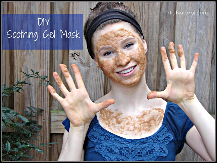 A Soothing Homemade Gel Face Mask for Acne