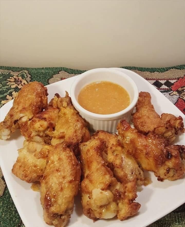 Air Fryer Hamburger Hamlet Fried Chicken Wings Secret Apricot Sauce