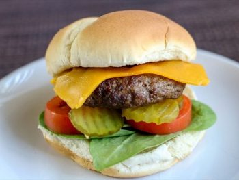 Air Fryer Hamburgers