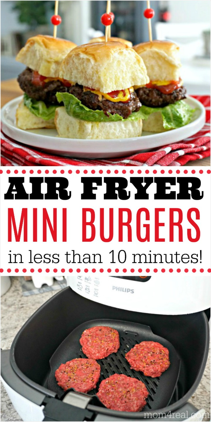 Air Fryer Mini Burgers with Cheese