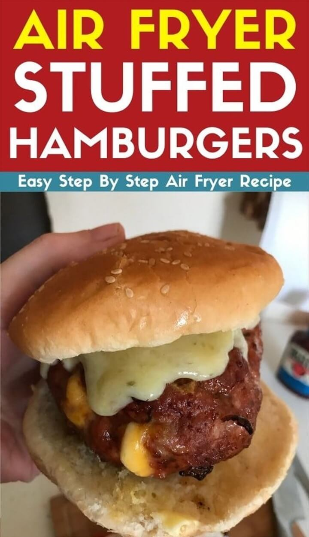 Air Fryer Stuffed Hamburgers