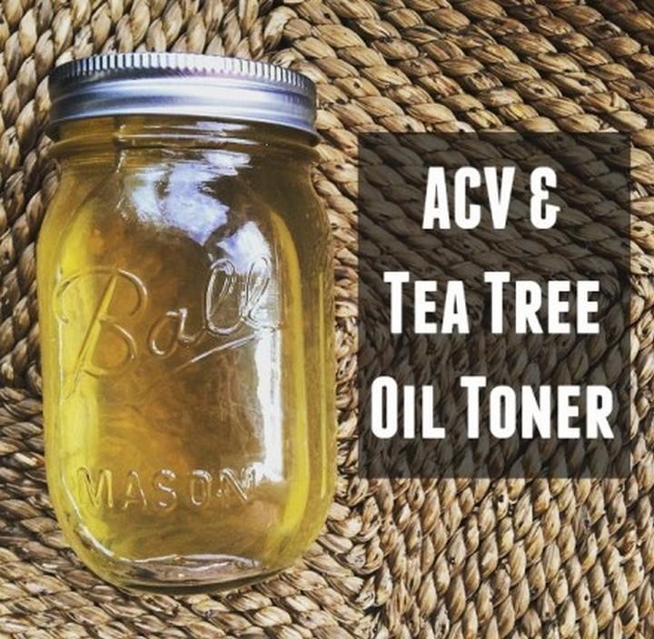 Apple Cider Vinegar Tea Tree Oil Toner