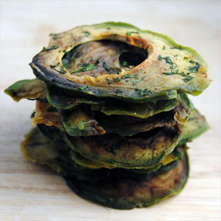 Avocado Chips in a Weston Food Dehydrator