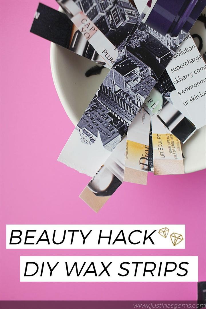 Beauty Hack DIY Wax Strips