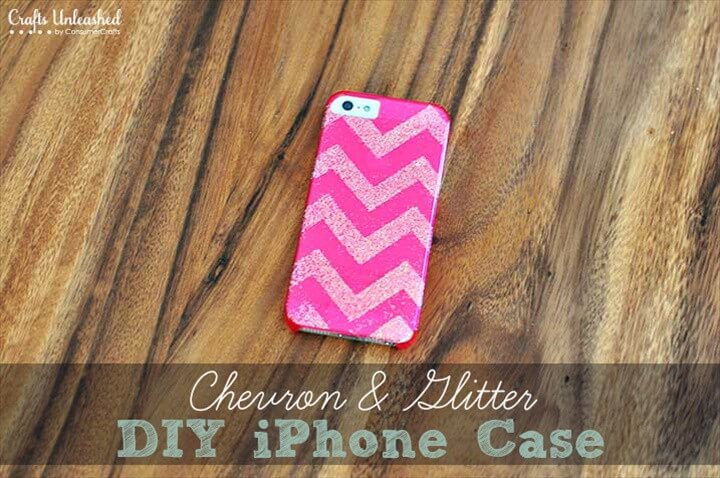 Chevron Glitter DIY iPhone Case