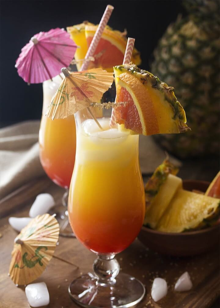 Coconut Orange And Pineapple Rum Punch