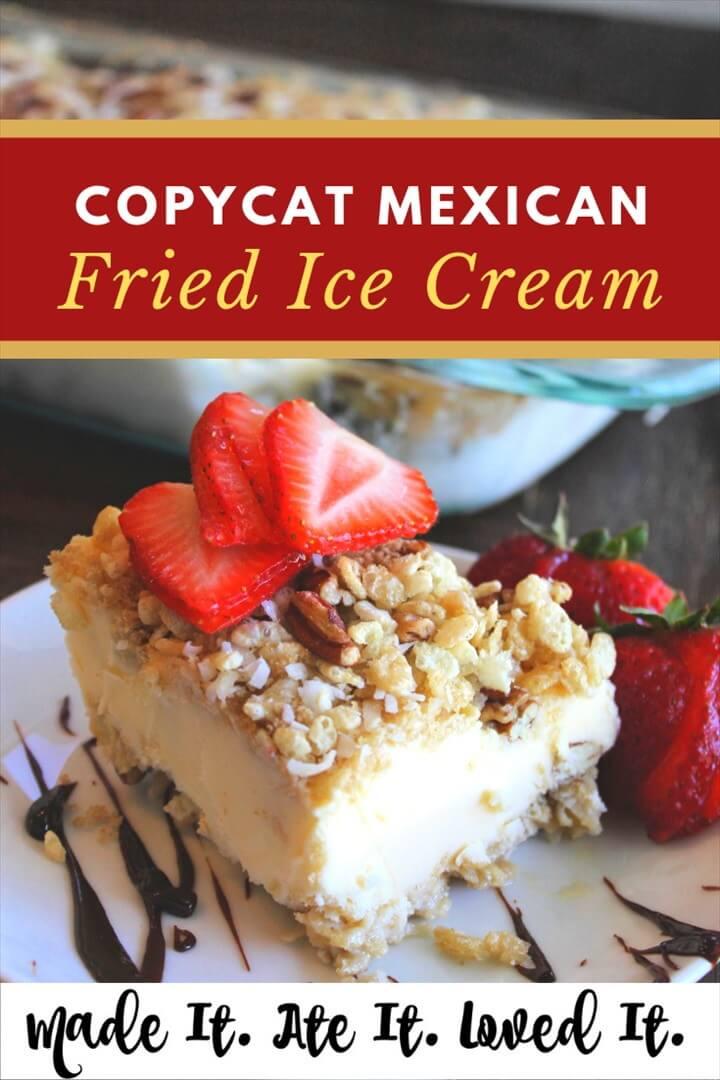 Copycat Mexican Fried Ice Cream