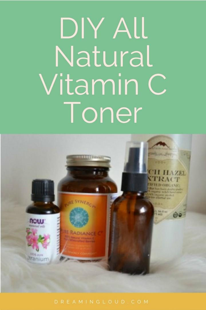 DIY All Natural Vitamin C Toner