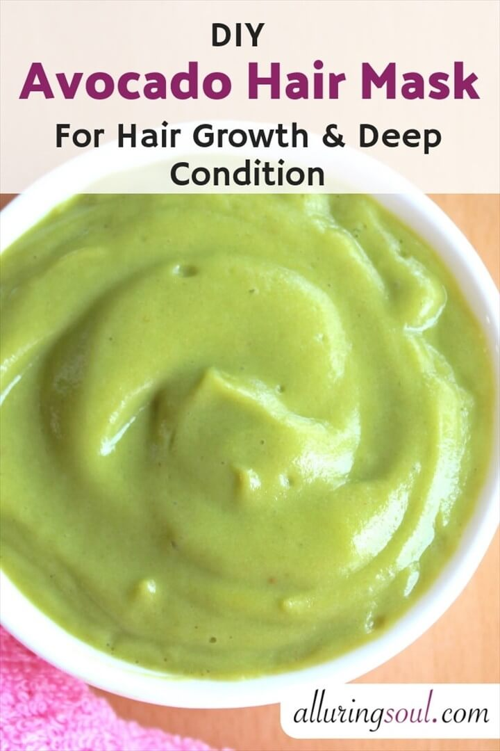 DIY Avocado Hair Mask For Hair Growth And Deep Condition
