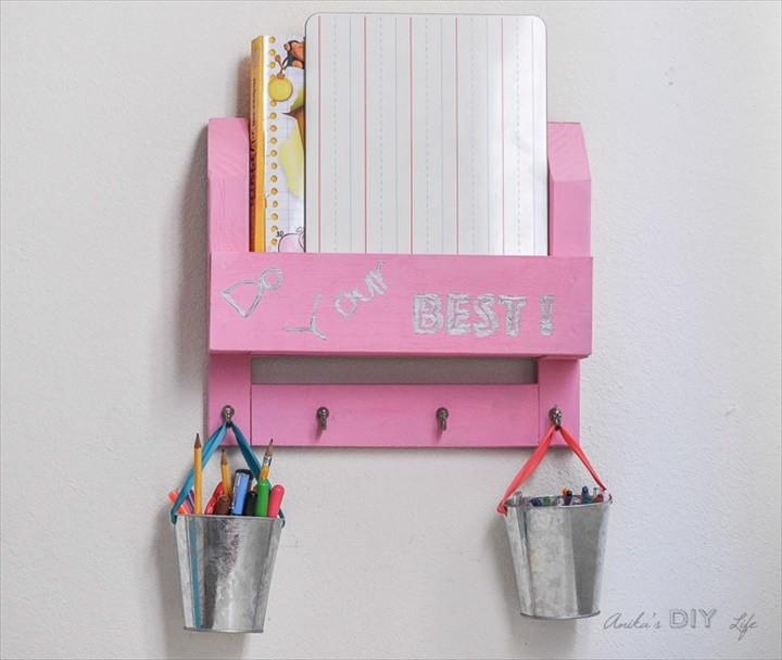 DIY Desk Organizer – How To Make A Homework Station