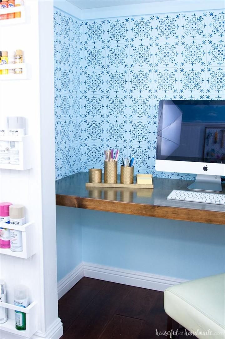 DIY Desk Organizer with Painted Brass