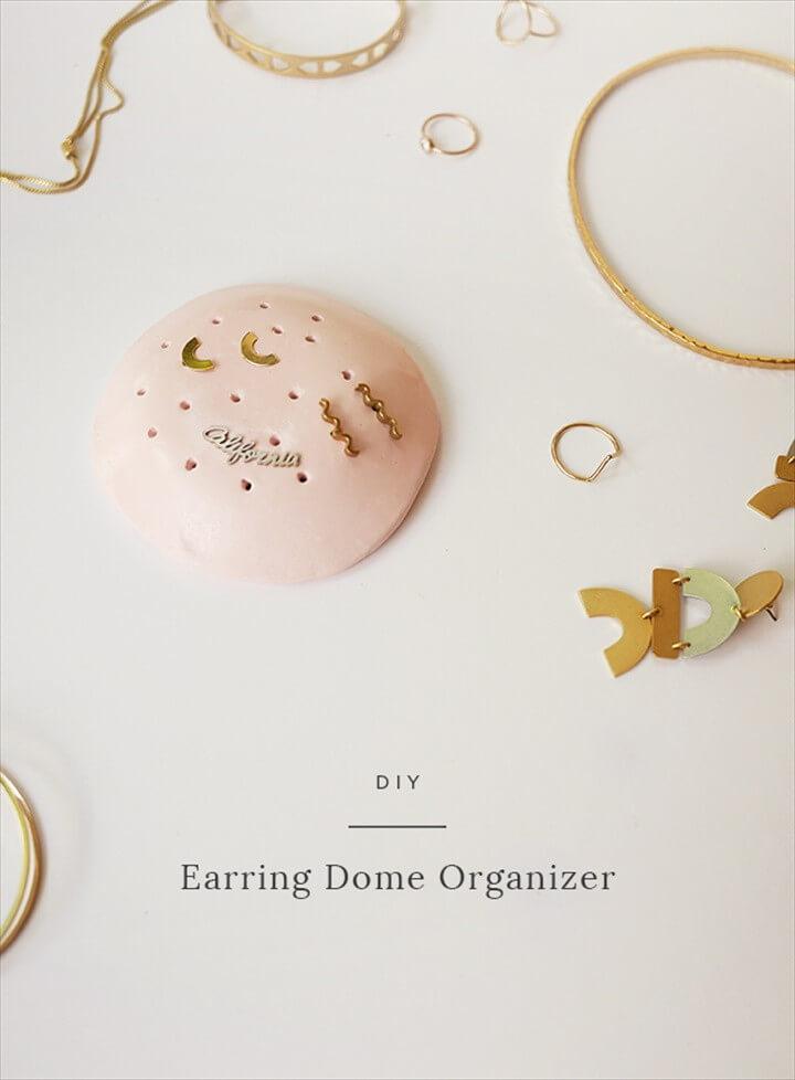 DIY Earring Dome Organizer
