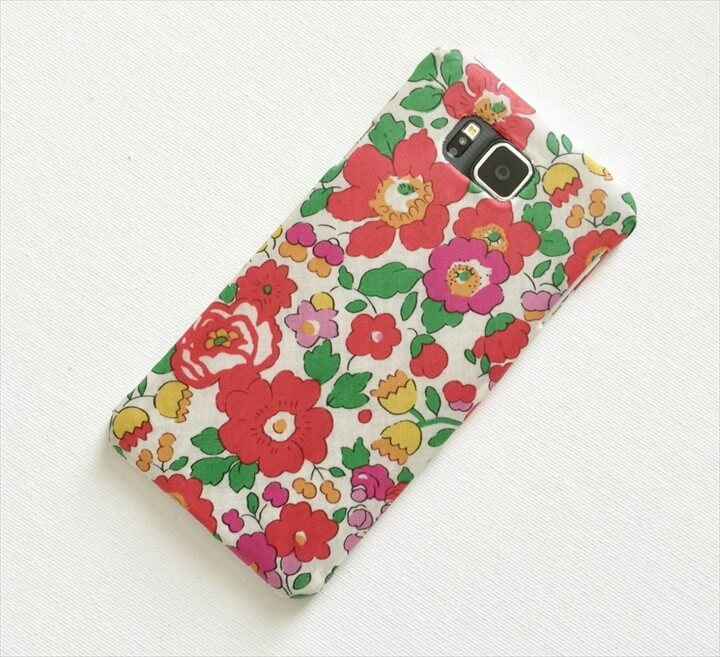 DIY Fabric Covered Phone Case