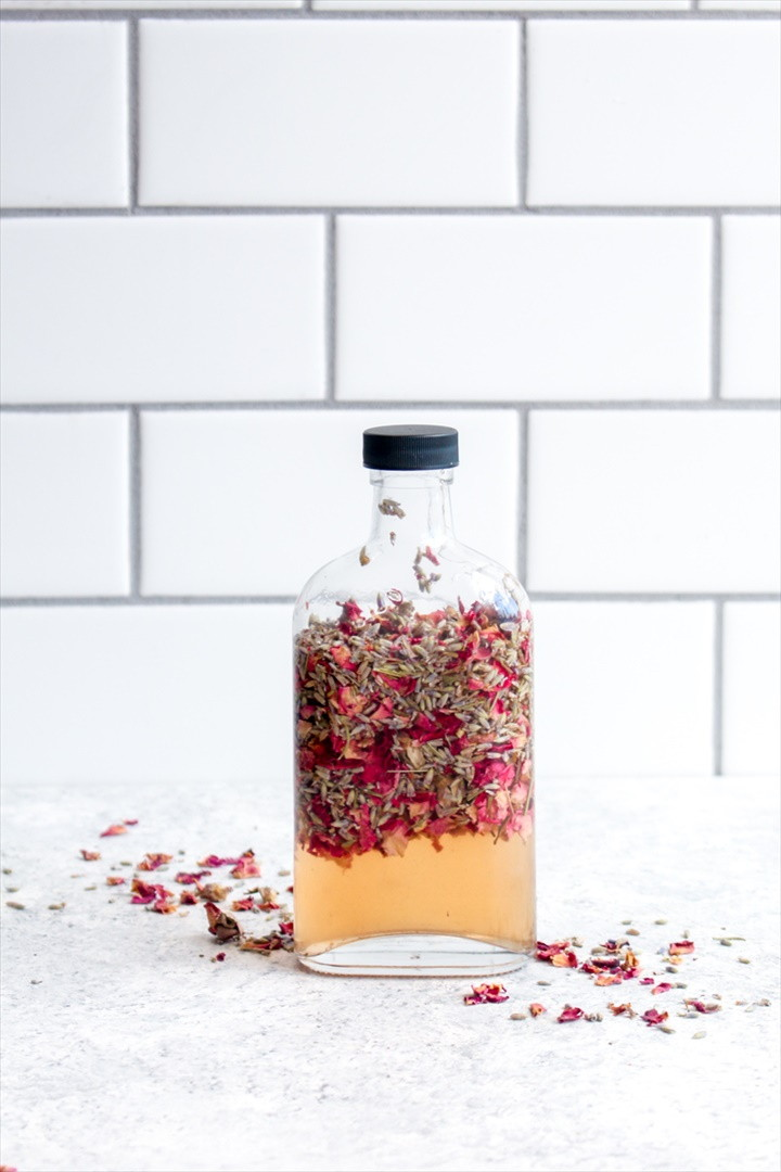 DIY Floral Vinegar Facial Toner