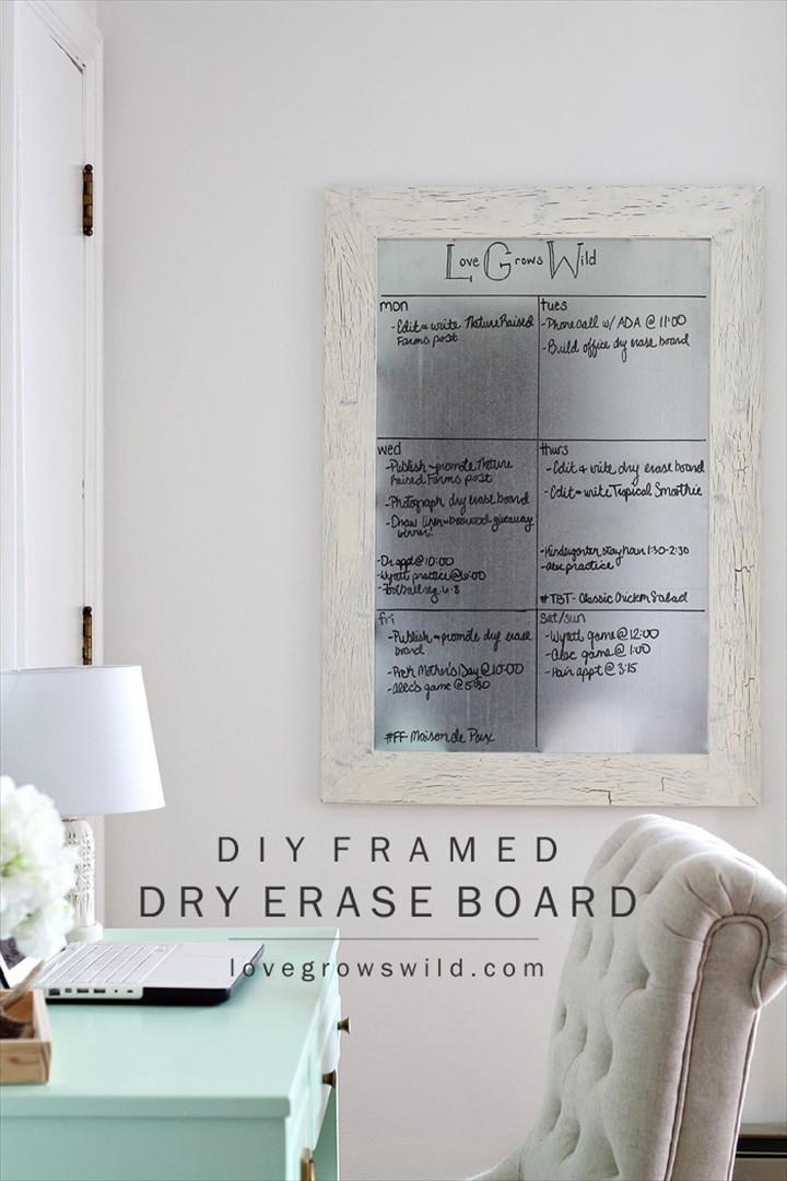 DIY Framed Dry Erase Board
