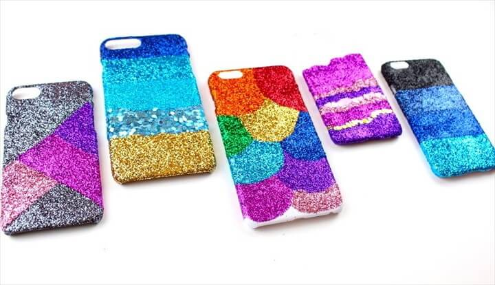 DIY Glitter Phone Case