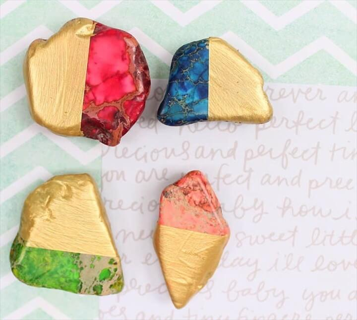 DIY Gold Dipped Magnets