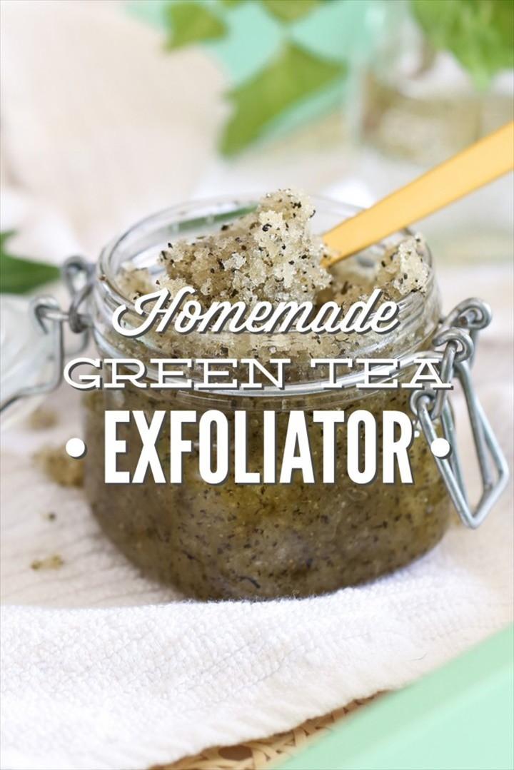 DIY Homemade Green Tea Exfoliator