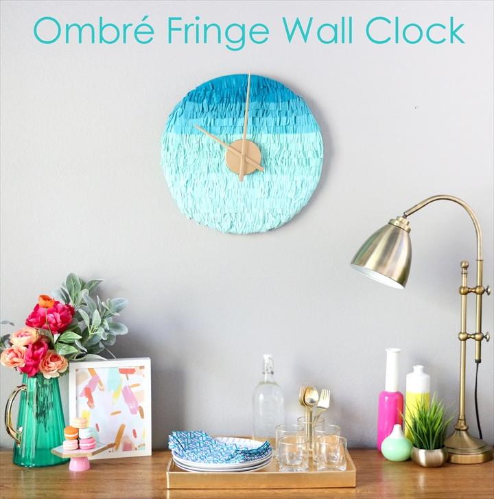 DIY It – An Ombré Fringe Wall Clock