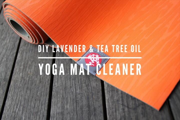 DIY Lavender And Tea Tree Oil Mat Cleaner