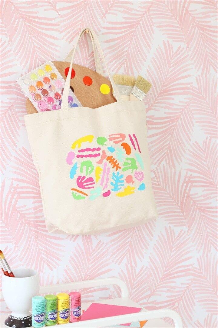 DIY Matisse Inspired Tote Bag