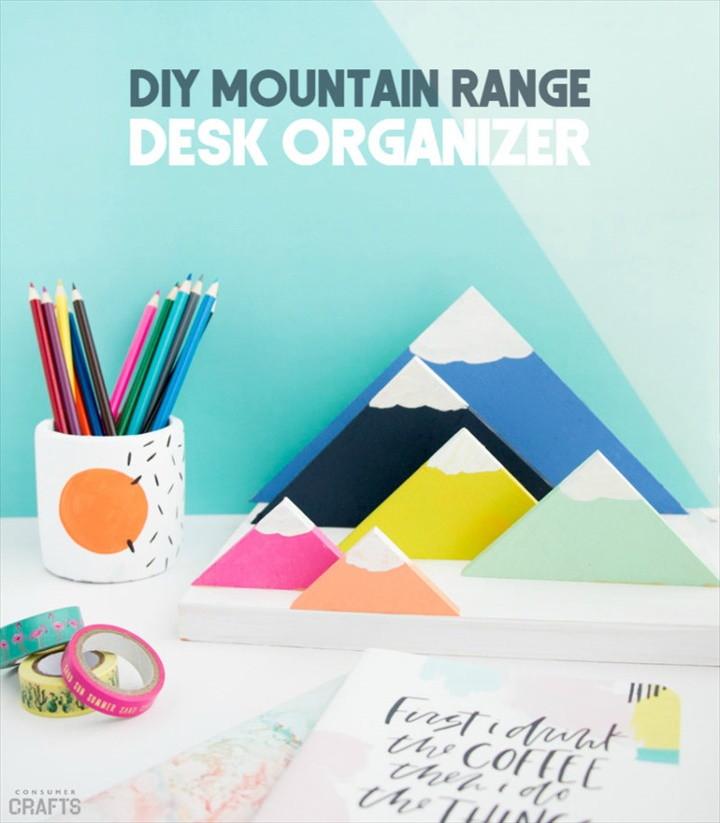 DIY Mountain Range Desk Organizer