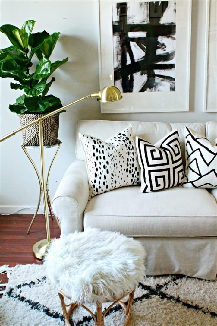 DIY Painted Pillows