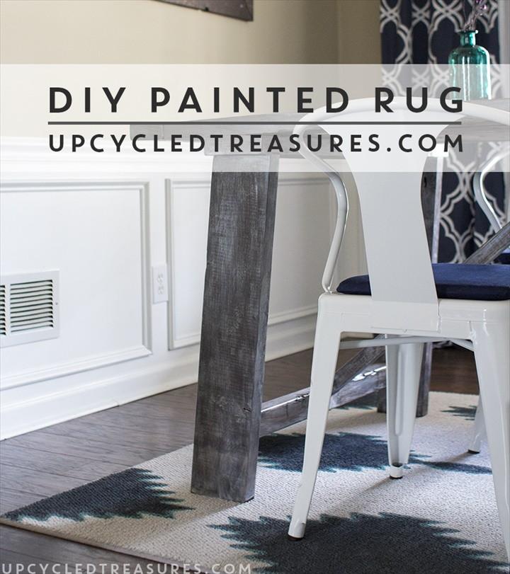 DIY Painted Rug Inspired by West Elm