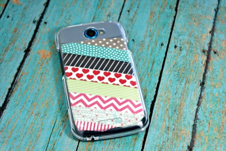 DIY Phone Case Washi Tape