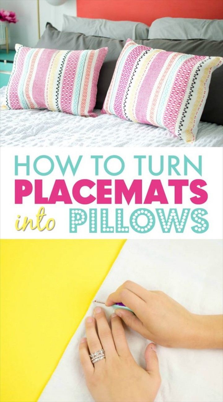 DIY Pillows From Placemats 1