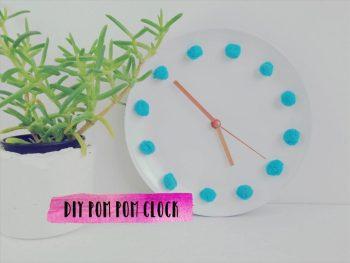 DIY Pom Pom Clock