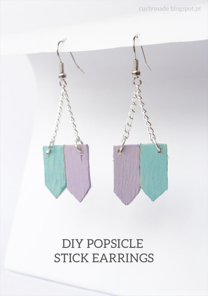 DIY Popsicle Stick Earrings