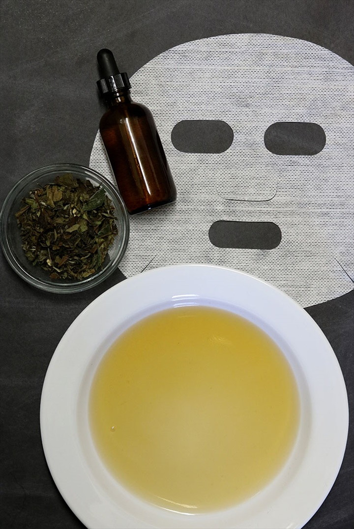 DIY Sheet Mask for Acne Prone Skin