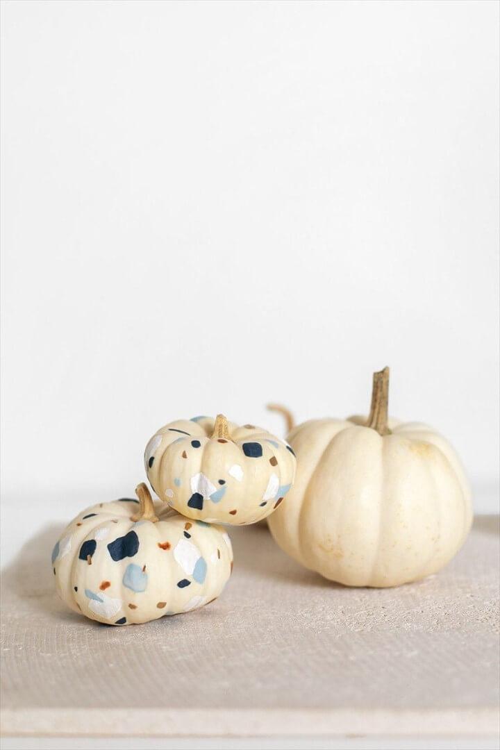 DIY Tiny Terrazzo Pumpkins